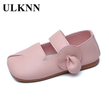 Baby Shoes Children's ULKNN Pink Girls White New Autumn Fashion Soft PU Muscle Pu-Cow