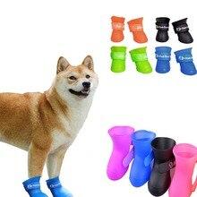 Gatos Perros mascotas Botas de lluvia de goma portátil antideslizante impermeable para perros gatos zapatos de lluvia para mascotas tamaño S/M/L/XL/XXL