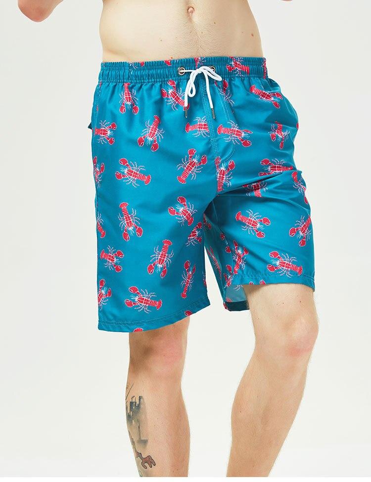 Verão dos homens praia impressão shorts de