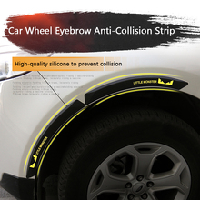 2Pcs Car Wheel Eyebrow Anti-collision Strip Silicone Anti Collision Accessories Universal Decorative Sticker