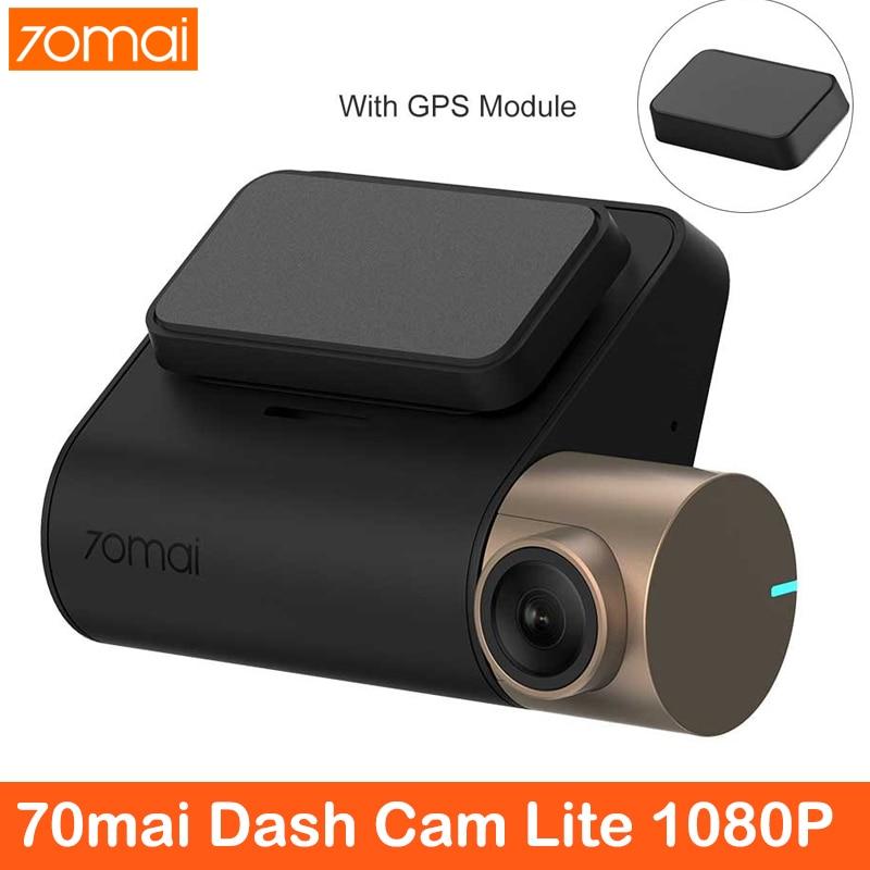 XiaoMi 70mai WiFi Cam Cam Lite 1080P Ultra HD DVR de carro 24 Monitor de horas de estacionamento com WIFI DVR de carro 1920 × 1080 500mAh FOV 130 Degr