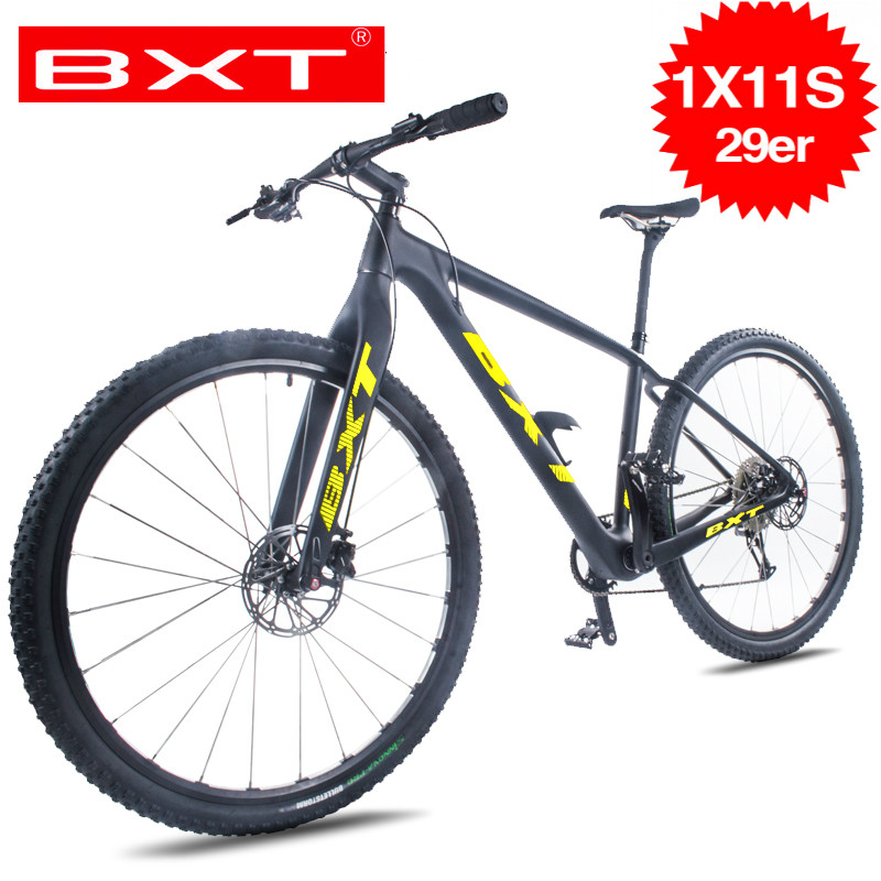 2020 BXT Free shipping 11Speed Mountain Bike 29er*2.1 Tire T800 Carbon 120 Niose Disc Brake 142*12mm MTB Complete Bicycle|Bicycle| |  - title=