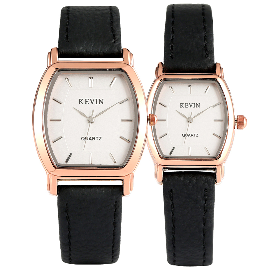 KEVIN Lovers' Watches Quartz Timepiece Rose Gold Watch Case Minimalist Stylish Men Women Couple Wristwatches Gifts 2019 Reloj