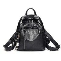 Backpack For Women Genuine Leather Women Shouulder Bag Brand Designer Female Travel Bag Casual Real Leather Backpacks 2020 C1159