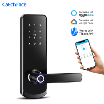 Electronic Door Lock Fingerprint Bluetooth Lock with Smart Touch Screen Lock Digital Safe Code Keypad Deadbolt For Home Hotel bluetooth electronic door lock with app wifi smart touch screen lock digital safe code keypad deadbolt for home hotel apartment