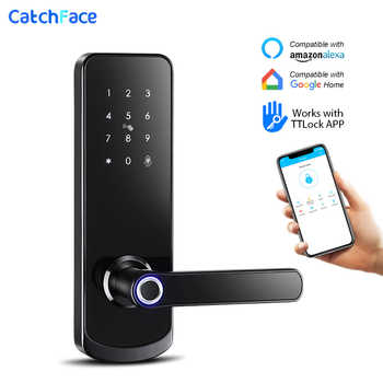 Electronic Door Lock Fingerprint Bluetooth Lock with Smart Touch Screen Lock Digital Safe Code Keypad Deadbolt For Home Hotel - DISCOUNT ITEM  45 OFF Security & Protection