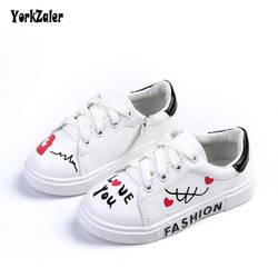 Yorkzaler wiosna jesień dzieci Sneakers buty w stylu casual dla dziewcząt chłopców sztuczna skóra 3 kolory Graffiti dla dzieci buty sportowe w Trampki od Matka i dzieci na