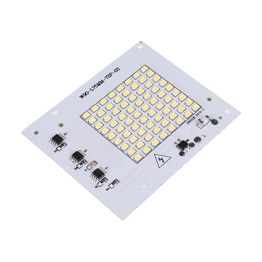 220V 10/20/30/50/100W Ha Condotto Proiettando La Luce di Pannello Della Lampada Smd Chip per lampadina con Il Bianco Caldo di Smart Ic di Fagioli Riflettore Sorgente di Decorazione per