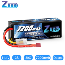Zeee 11.1V 7200mAh 80C Lipo Battery 3S Hardcase Battery with Deans Plug for RC Car Truck Boat RC Truggy FPV Airplane Buggy