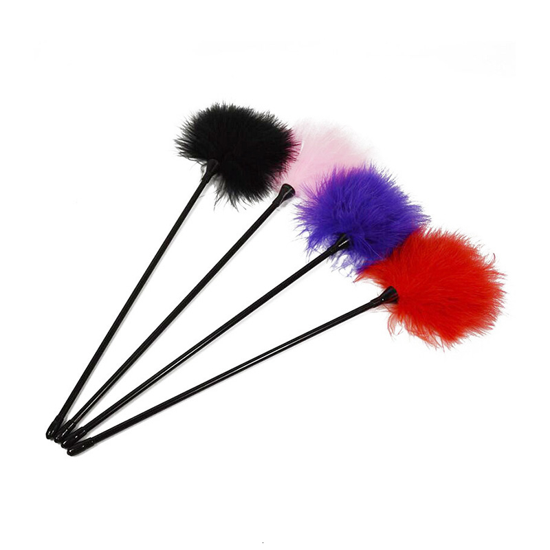 Black Bird Feather 2019 New Clit Tickler Spanking Sex Toy Feather Flirting Tickler Sex Whip Flirt Soft Ticklers Slave Flogger