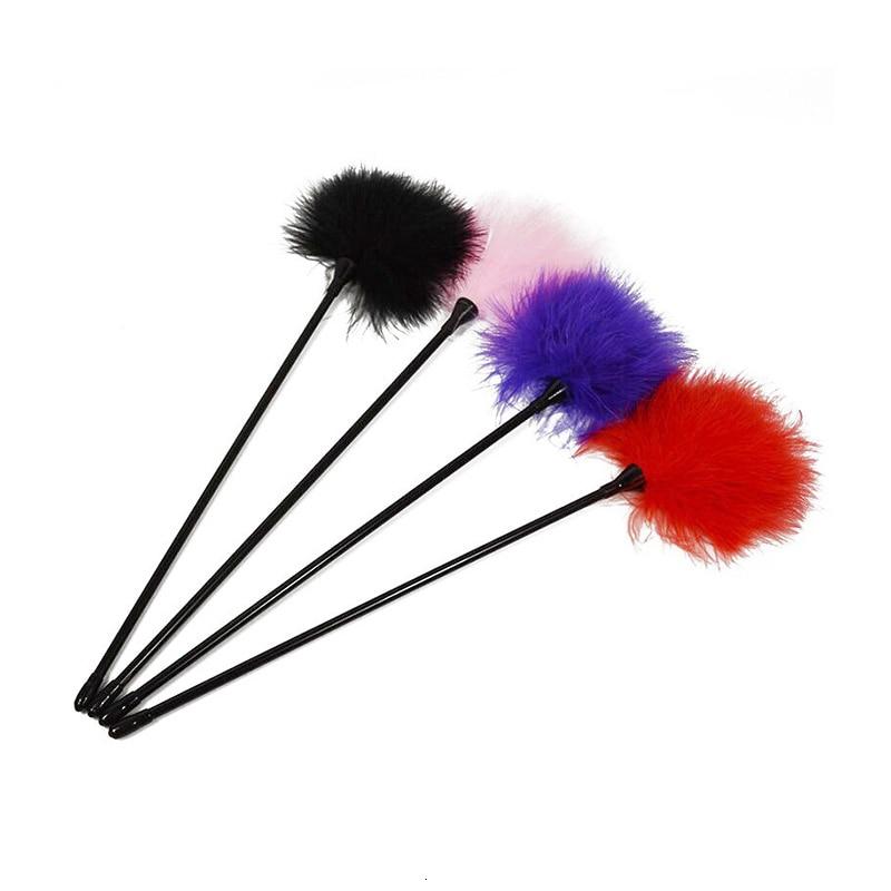 Black Bird Feather 2020 New Clit Tickler Spanking Sex Toy Feather Flirting Tickler Sex Whip Flirt Soft Ticklers Slave Flogger