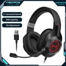 هيكات G2II سماعة الألعاب ألعاب سماعات الظاهري 7.1 الصوت المحيطي مصابيح يندمج بها اللون الأحمر والأخضر والأزرق الحد من الضوضاء MIC USB للكمبيوتر/PS4/PS5