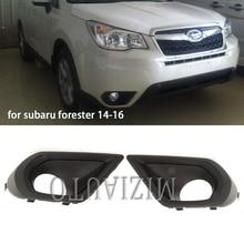 Kit Fog light for Subaru Forester 2014 2015 2016 Bumper foglights Cover frame hole Car Styling Accessories fog lights MIZIAUTO