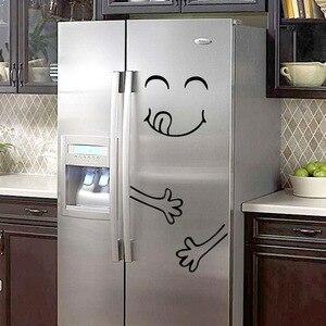 Image 2 - Autocollants muraux avec visage souriant, nouveau, autocollants délicieux, pour réfrigérateur, pour aliments, affiche artistique de décoration, DIY bricolage, 4 Styles