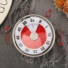 Temporizador de cocina mecánico con imán, forma redonda, alarma de cuenta atrás de 60 minutos para el hogar, cocina, suministros fáciles