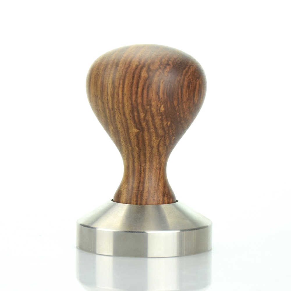 Ecocoffee Rose Wooden Handle 304 Stainless Steel Coffee Tamper 49 51 53 54 55 57 58 MM Flat Base Espresso Coffee Maker