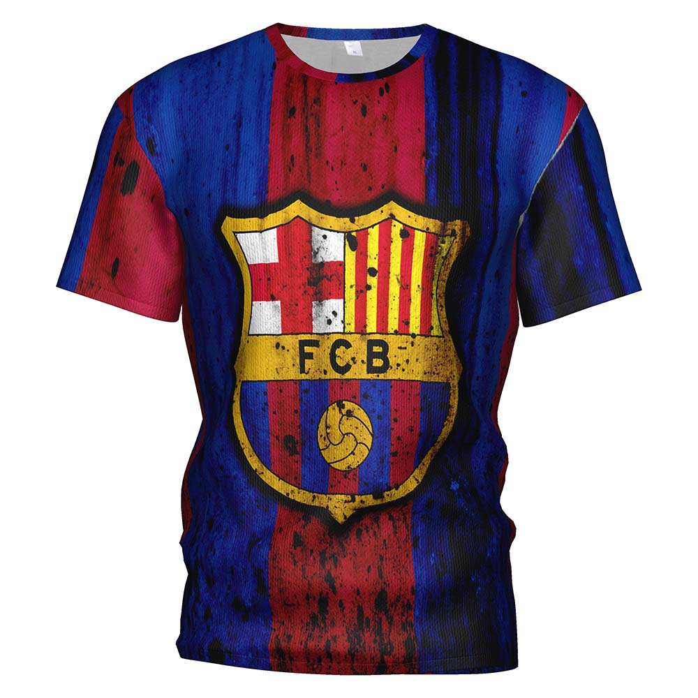 3d T-Shirt Soccer-Jersey Barcelona Tracksuit Gym-Clothing Football-T-Shirt-Barcelona