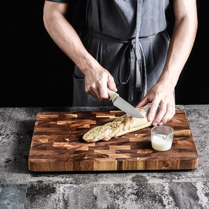 Image 5 - פרימיום Acacia עץ חיתוך לוח עם יד כידון חסון מוצק קיצוץ הגשת מגש מגש מושלם מתנה לא צבע חיתוך כלי