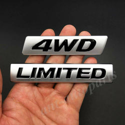 2x Metal Matte 4WD Limited Edition Car Trunk Rear Emblem Badge Sticker AWD 4x4