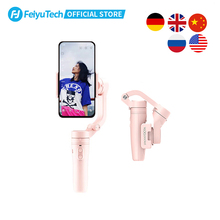 FeiyuTech Vlog Pocket MINI Handheld Smartphone Gimbal Stabilizer selfie stick for iPhone X 8 7 6, HUAWEI P30 pro、MI 9、VIVO(Pink)
