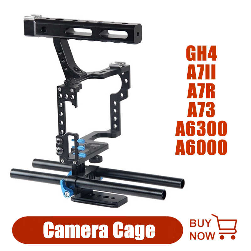 Camera Kooi Staaf Rig Camera Video Kooi Kit Stabilizer Accessoires Voor Sony A7II A7R A73 A6300 A6000 Panasonic GH4 A9