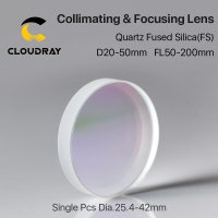 Cloudray 1Pcs Focusing & Collimating Lens Dia. 20 Dia.50 OEM Quartz Fused Silica Fiber Laser 1064nm Raytools