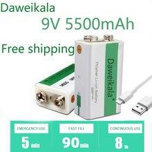 2021 novo ciclo usb bateria de carregamento 9v 5500mah é adequado para câmera e outras séries de produtos eletrônicos + cabo de carregamento usb
