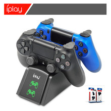 PS4 Controller Charger Twin 4 CONTROLLER USB Pengisian Stasiun Dock Station untuk Sony Playstation4/PS4/PS4 Slim/ PS4 Pro(China)
