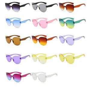 Image 5 - TTLIFE New Fashion Women Cat Eye Sunglasses Luxury Brand Designer Sun Glasses  Candy Color Mirror Eyewear Oculos De Sol YJHH0207