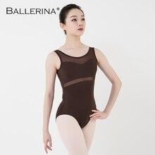 Leotardo de ballet para mujer, ropa de baile, entrenamiento profesional, leotardo de gimnasia, malla Sexy, costura de bailarina 5672