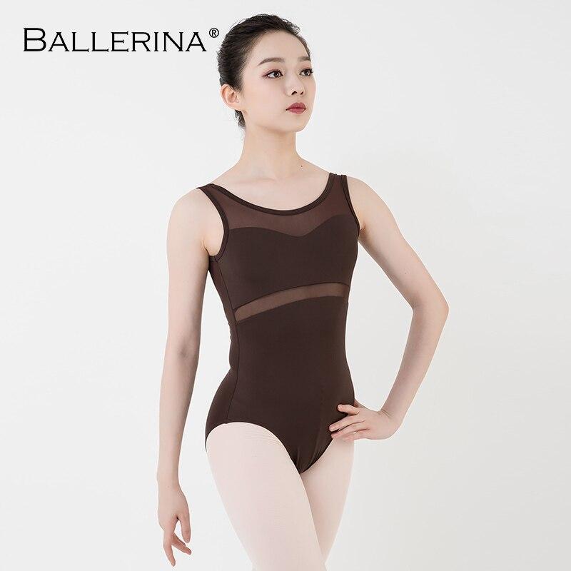 Image 5 - ballet leotard women Dancewear Professional training gymnastics leotard Sexy Mesh stitching  Ballerina 5672Ballet   -