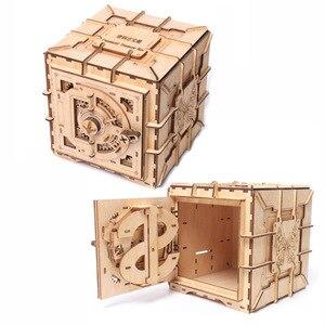 Image 1 - 3D Puzzles Wooden Password Treasure Box Mechanical Puzzle DIY Assembled Model