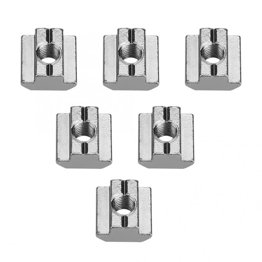 Stainless Steel Square Nuts 50pcs Carbon Steel Sliding T slot Nut for Aluminum Accessories Nut For Wood in Nuts from Home Improvement