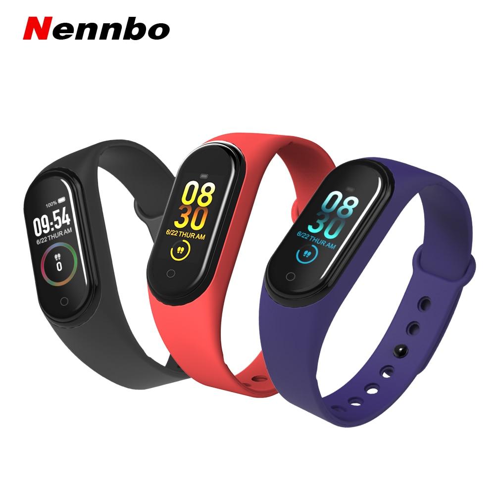 M4 bande intelligente 4 étanche Fitness Tracker Sport bracelet fréquence cardiaque pression artérielle montre intelligente moniteur santé bracelets