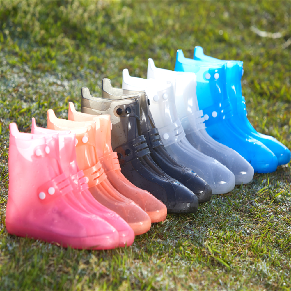 New Design Unisex Waterproof Fashion Rain Shoe Cover Anti-Slip Durable Shoes Protectors Rain Boots For Indoor Outdoor Rainy Days