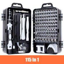 цена на 115 In 1 Mini Precision Screwdriver Set Chrome Vanadium Steel Screwdriver Set, Clock, Mobile Phone, Device Repair Hand Tool