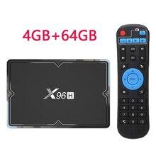 X96 H mini Smart Tv Box Android 9.0 TV décodeur 6K 2gb 4gb 16gb 32gb 64gb Quad Core lecteur multimédia