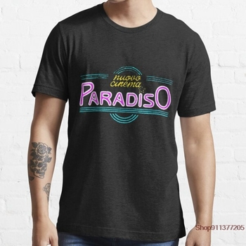 Nuovo Cinema Paradiso 100% cotton short sleeve men T shirt casual loose cat men tshirt o-neck t-shirt men tee shirts top image