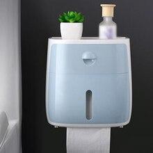 Держатель туалетной бумаги для ванной комнаты рулон бумажный лоток коробка без ударов настенный Материал: ABS+ PS+ PC
