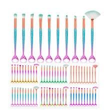 10 шт Профессиональный набор кистей для макияжа Русалочки инструмент