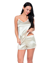 LISN 2019 summer and autumn new ladies home service harness set sexy pajamas two-piece silk