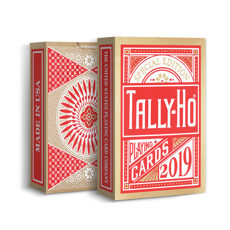 PLAYING CARDS BY USPCC MAGIC TRICKS TALLY-HO CIRCLE BACK SILVER DECK LIMITED ED