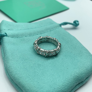 S925 Sterling Silver fashionable X inlai