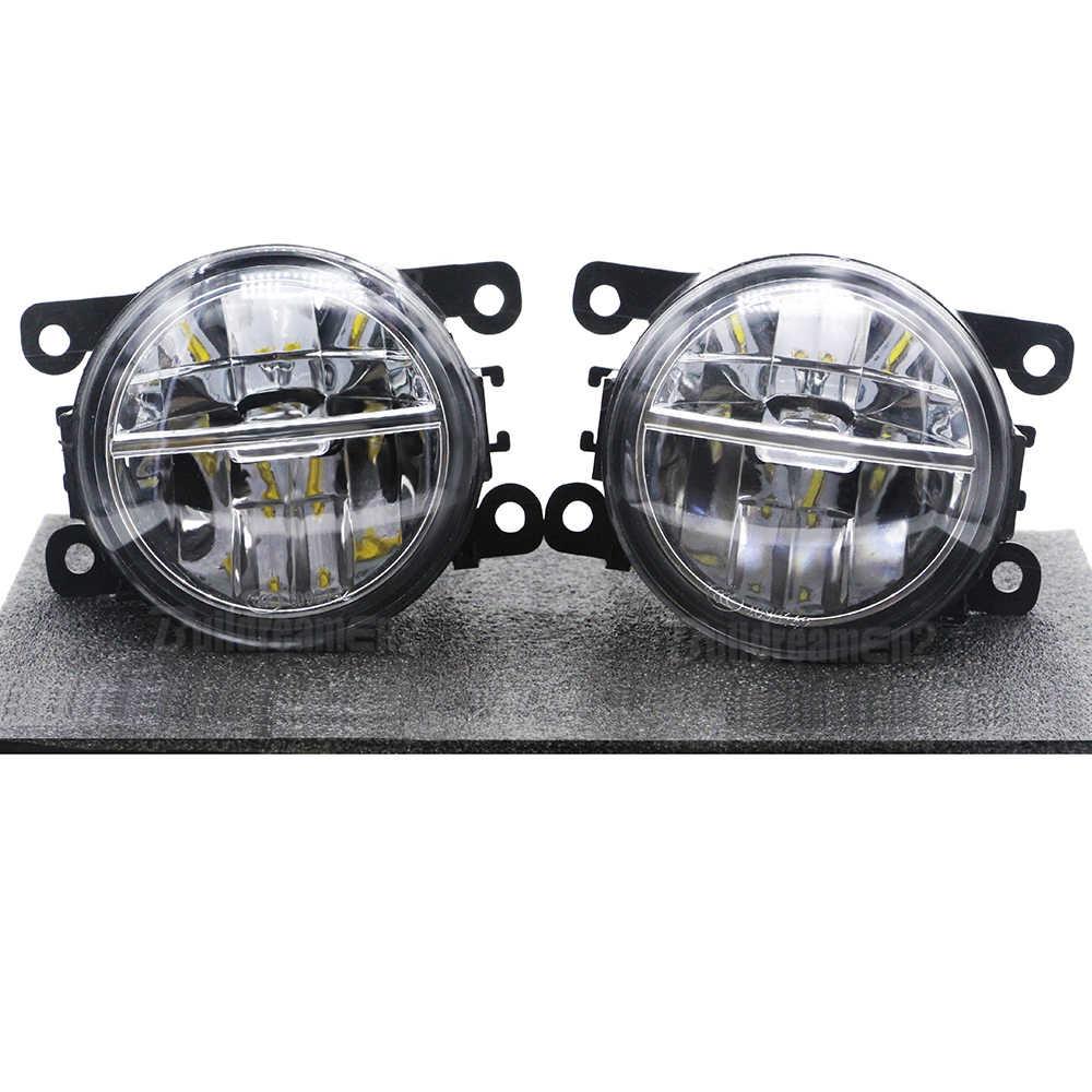 Left /& Right Front LED Fog Light with 9 Lamp Bead Angel Eye 35500-63J02 for Navara
