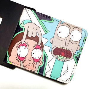 Cartoon wallet PU coin pocket credit card photo change small change short wallet for boys and girls