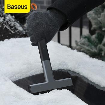 Baseus skrobaczka do śniegu i lodu przednia szyba samochodu Ice Remover Auto urządzenia do oczyszczania okien zimowe akcesoria do myjni samochodowej narzędzie do masażu tanie i dobre opinie CN (pochodzenie) 35cm 15cm TPU+ABS SKROBACZKA DO LODU 120g