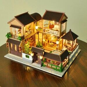Image 2 - 子供たちのおもちゃdiyドールハウス組み立てるミニチュアドールハウス家具ミニチュアドールハウスパズル教育玩具子供のため