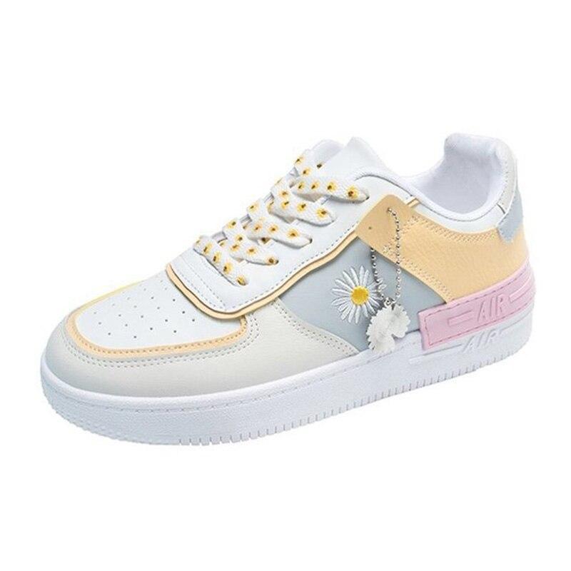 Купить кроссовки женские из пу кожи дышащие мягкие повседневная обувь
