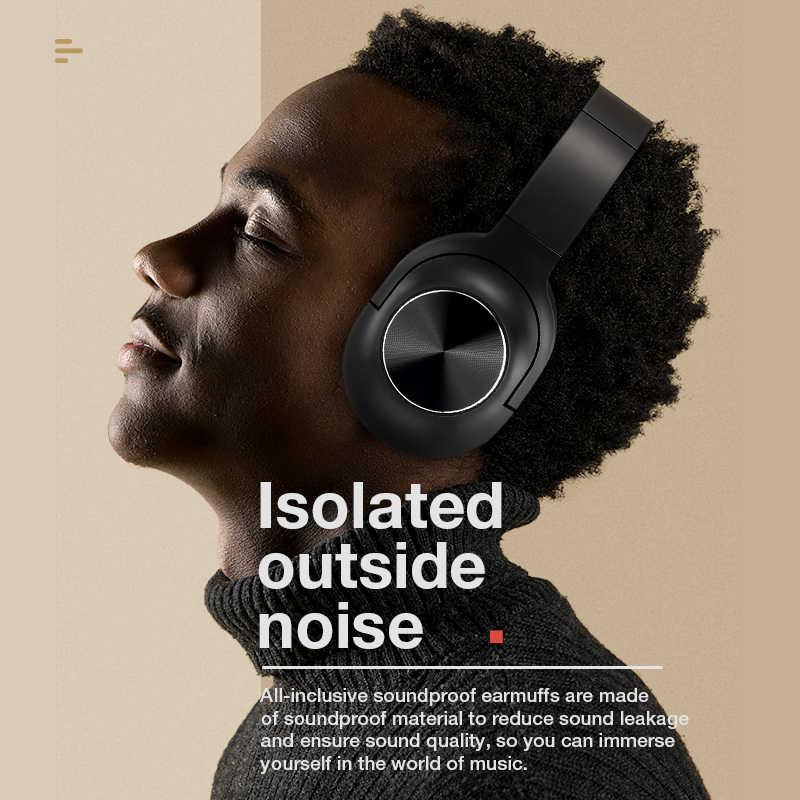 SANLEPUS słuchawki bezprzewodowe z bluetooth przenośne stereo zestaw słuchawkowy z mikrofonem dla muzyki słuchawka do iphone'a Samsung Xiaomi