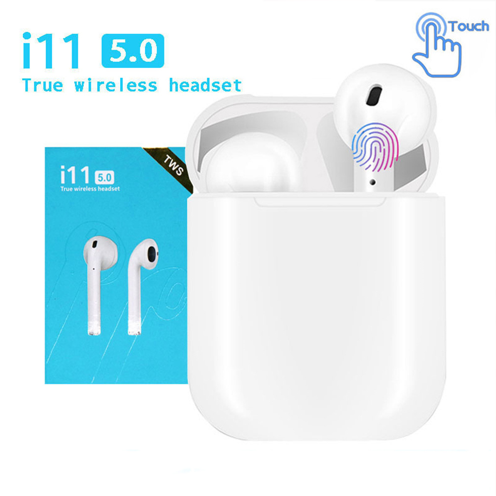 I11TWS Bluetooth Earphone Wireless Stereo Earbuds Bluetooth 5.0 Headset Auto Pairing Sports Earphones For IPhone Android Samsung